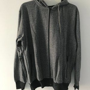 Galaxy by Harvic Men's Gray Zip Hoodie Size Large